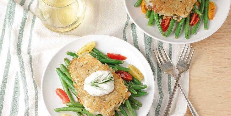 Potato-Rosemary Crusted Fish Fillets Recipe - Genius Kitchensparklesparklesparklesparklesparklesparklesparklesparklesparklesparklesparklesparkle
