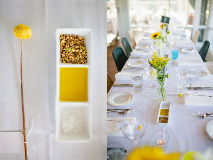 Table settings Wedding Billy buttons