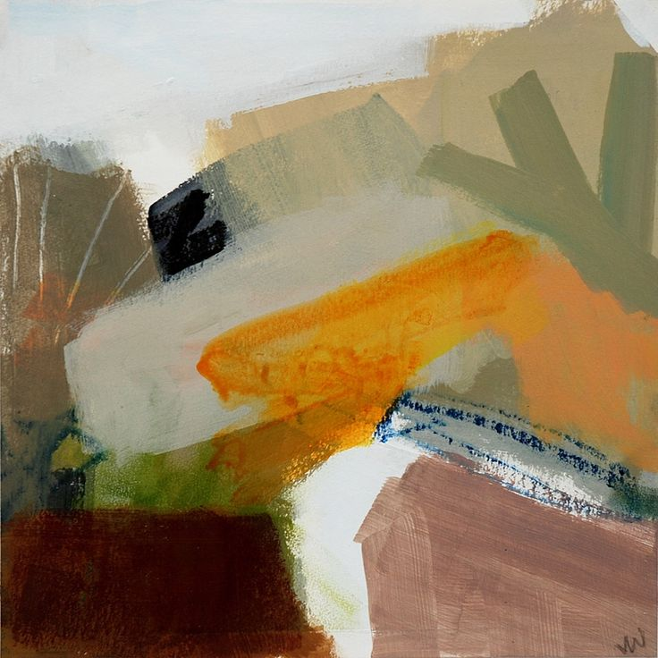 Modern ArtBuyer: Bright Track Ochres by Julia Wilson