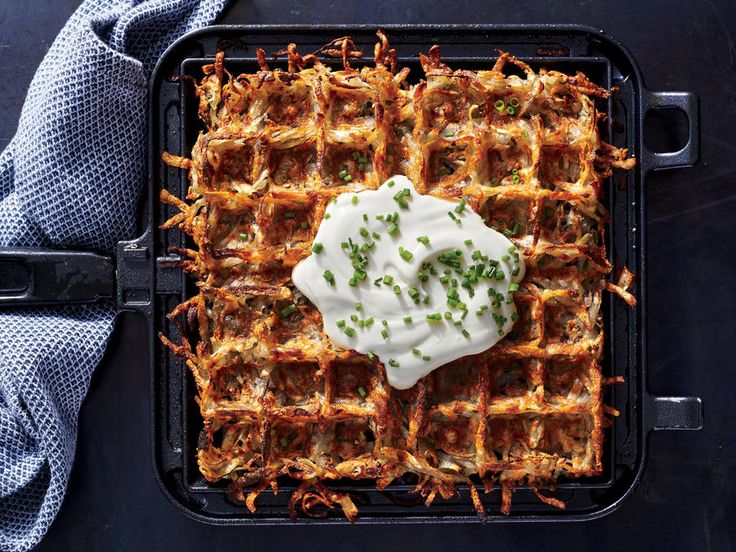 A waffle iron will make the best hash browns you've ever had. The brunch possibilities are endless.