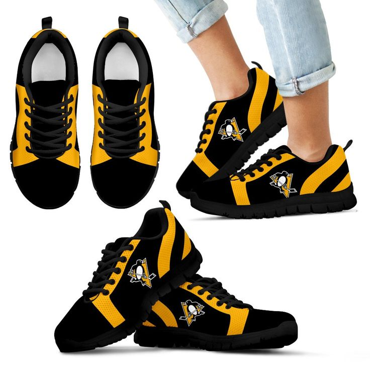 Line Inclined Classy Pittsburgh Penguins Sneakers – Best Funny Store
