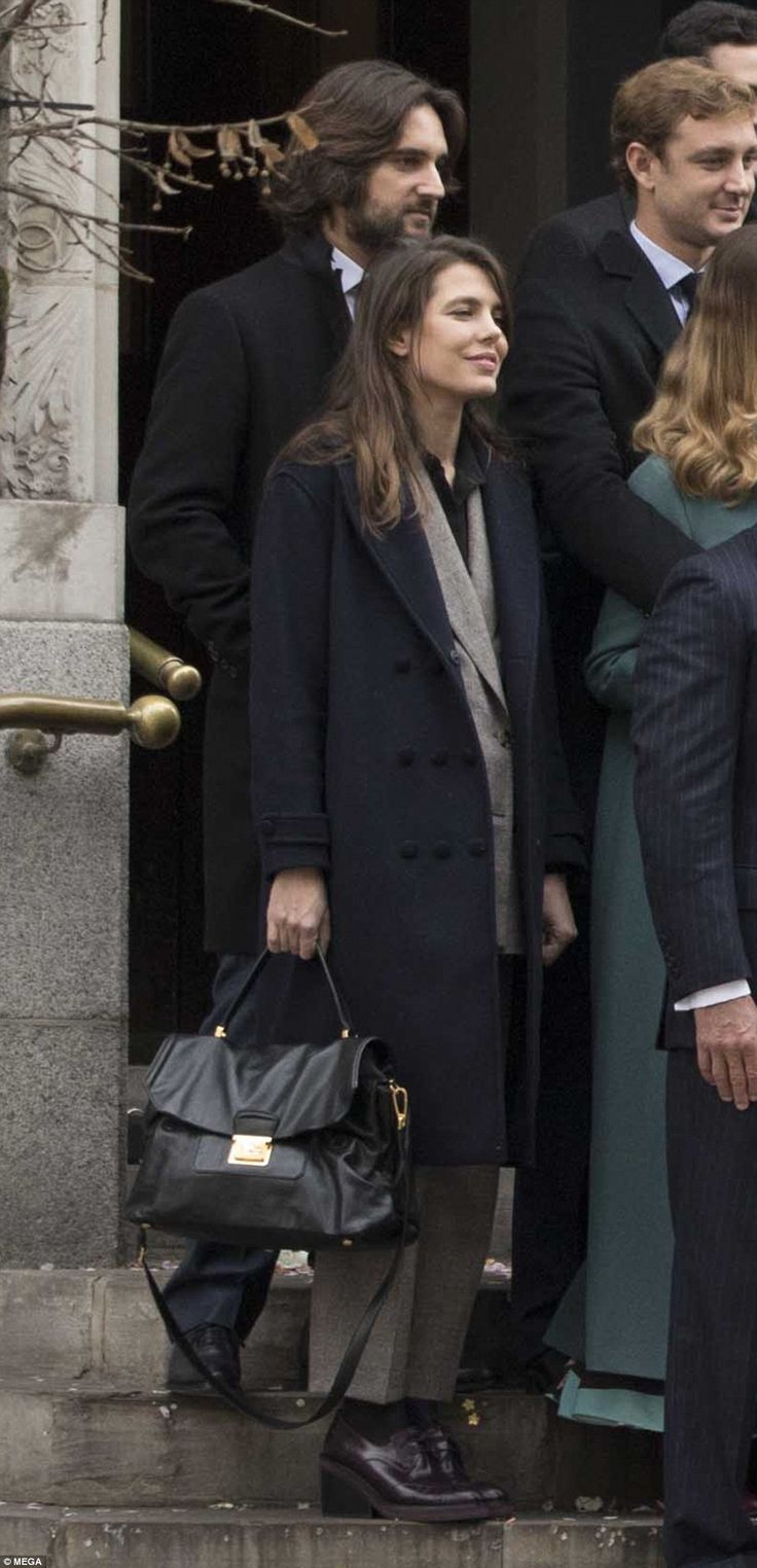 Guests included Charlotte Casiraghi, pictured, the granddaughter of Princess Grace Kelly, and her boyfriend Dimitri Rassam