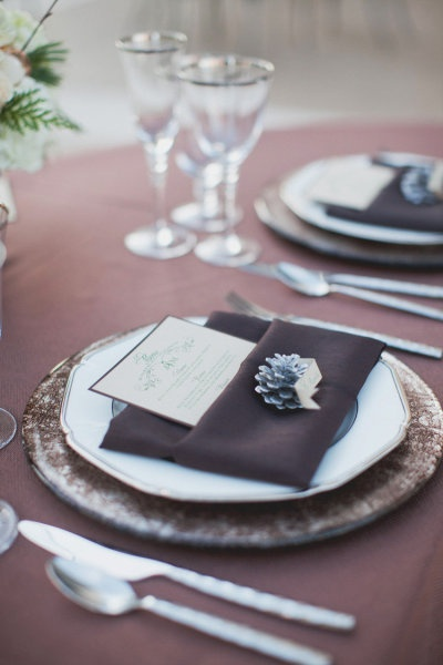 place setting - lilac