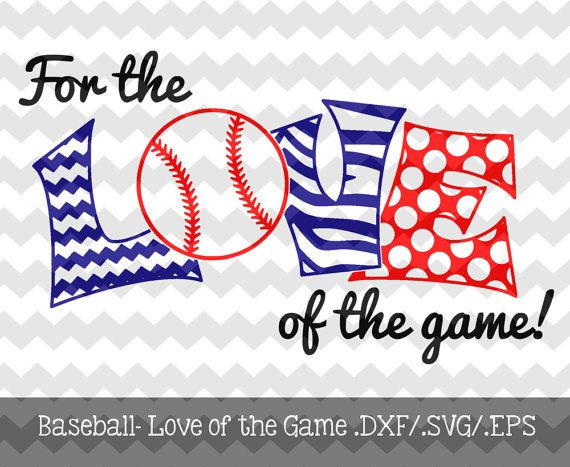 The Baseball- For the Love of the Game Files are for use with your Silhouette Studio Software or other programs that can read .dxf/.svf/.eps