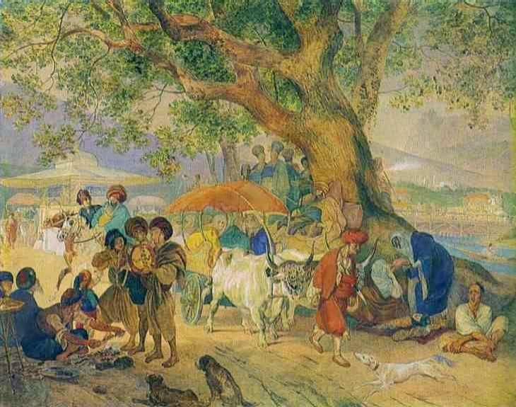 Сладкие воды близ Константинополя. 1849. Бумага, акварель. 69 х 87. ГРМ.
