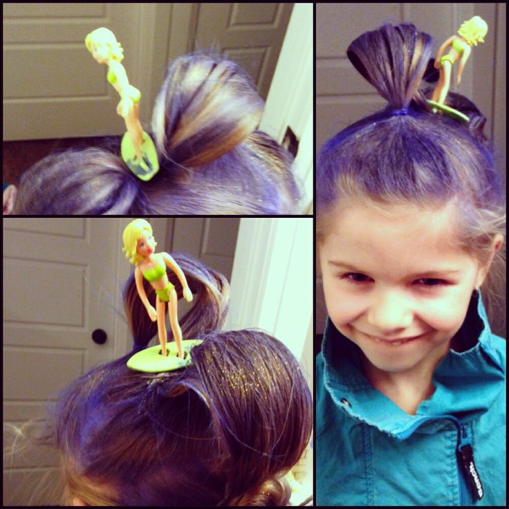 Surfer girl hair, inspired by waves of the ocean :) held in with hairspray, bobby pins and elastics