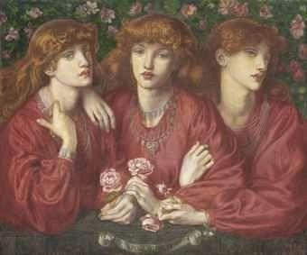 Rosa Triplex: A triple portrait of May Morris, Rossetti