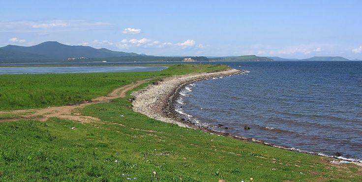 The spit near Perevoznaya bay (Khasan district, Primorsky kray, Russia)