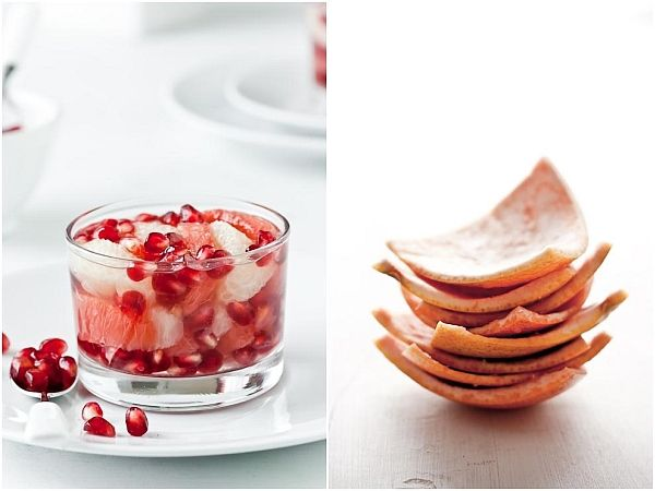 Grapefruit And Pomegranate In White Tea Jelly - Oh girls! Doesn't this ...