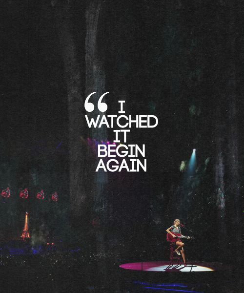 I watched it begin again.