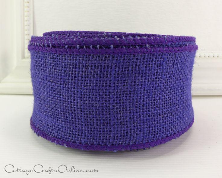 "Burlap Wired Ribbon, 2 1/2"" wide Purple - TEN YARD ROLL - Offray Natural Jute Halloween, Mardi Gras, Craft Wire Edged Ribbon by CottageCraftsOnline on Etsy https://www.etsy.com/listing/107971863/burlap-wired-ribbon-2-12-wide-purple-ten"