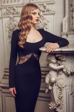 2017 Celebrity dress Scalloped sexy back design mit Langen ärmeln Blau Gerade abendkleid abendkleid nach maß Roter Teppich kleid //Price: $US $159.00 & FREE Shipping //     #clknetwork