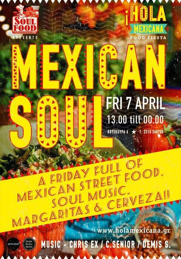Τρίτη στάση στο κέντρο της πόλης, στο μικρό μας Μεξικό και το !Hola Mexicana τη Παρασκευή 7 Απριλίου. Μουσική επιμέλεια : Black Radio Berlin | Upnloud Tip Food for the mind & the soul είναι το moto τους και σας προσκαλούν να το ασπαστείτε,μέσα από τη δοκιμή διαφορετικών γεύσεων στο άκουσμα μουσικής για την ψυχή.