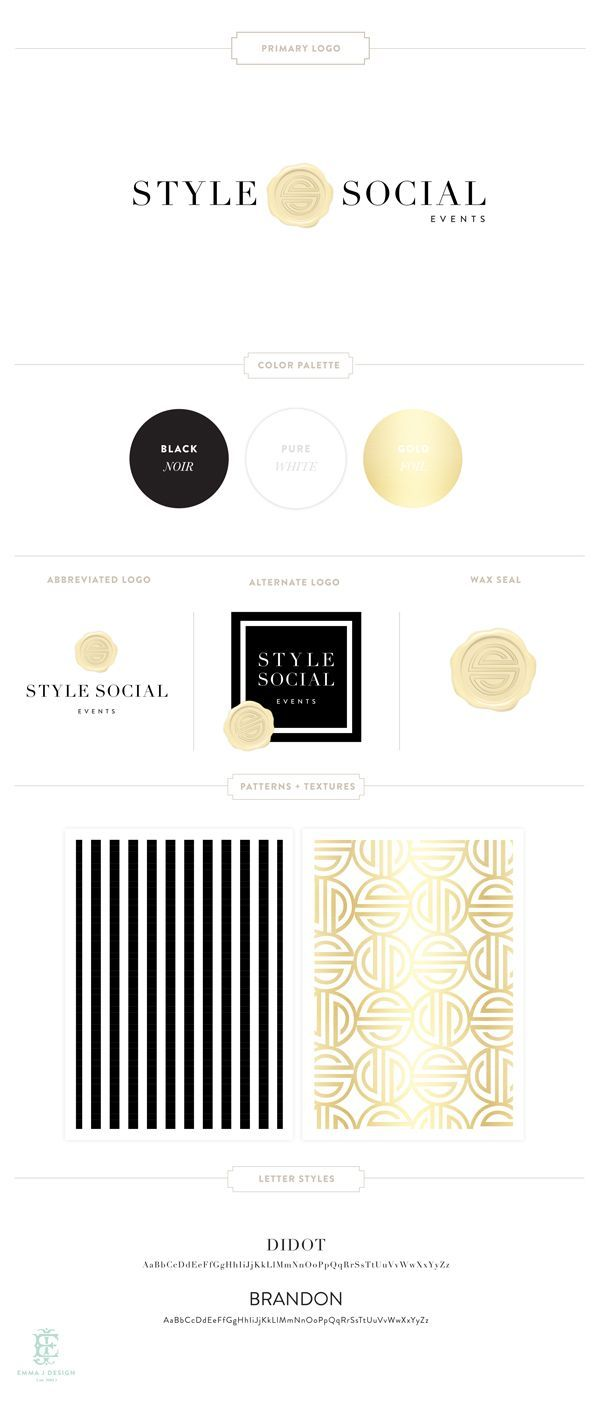Style Social Brand Design by Emily McCarthy // style guide // brand board // identity // branding