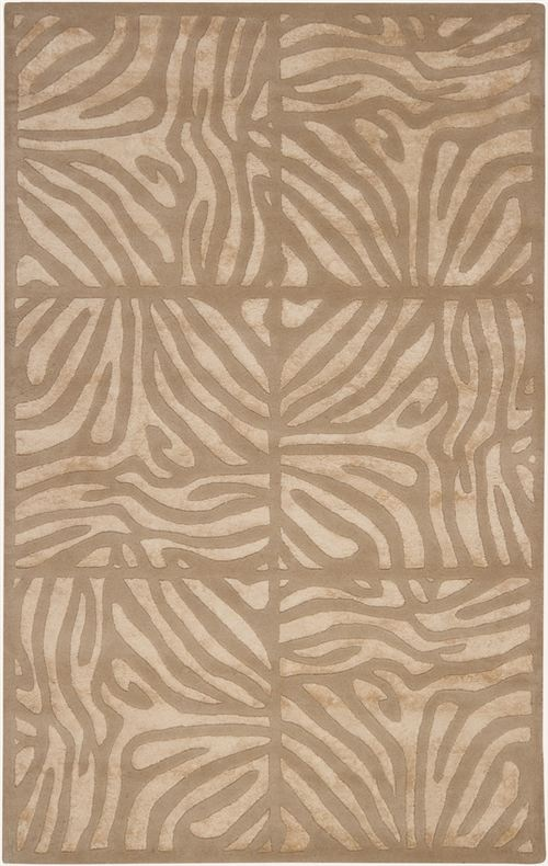 Surya S Modern Clics Candice Olson Taupe Can 1938 Chic Neutral Animal Print Area