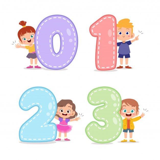 Cartoon Kids With 123 Numbers Art Drawings For Kids Art School Supplies Art Wall Kids