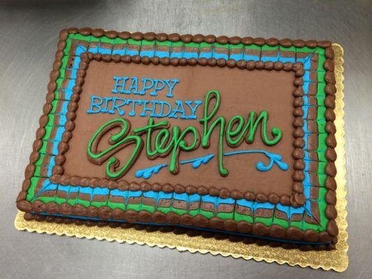 Schokoladen-männlicher Blatt-Kuchen   – Decorated cakes