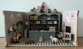 """""""Antique toy shop"""" made in scale 1:12"""