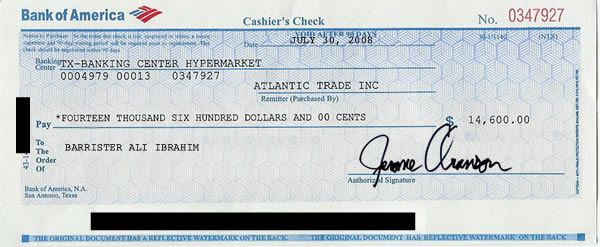 Cashier S Check Examples Examples Of Cashier S Check Examples10 Com Money Template Cashier S Check Payroll Checks