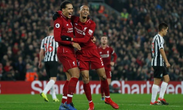 Liverpool Thump Newcastle With Fabinho Supplying The Icing On The Cake Liverpool Newcastle Premier League Matches