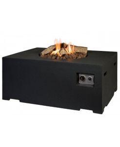 Tafelhaard rechthoek, een luxe designtafel met een fijn loungevuur zonder rook of vonken. De Cocoon Table is voorzien van een ingebouwde gashaard, de hoogte van de vlam is zelf te regelen middels een regelknop