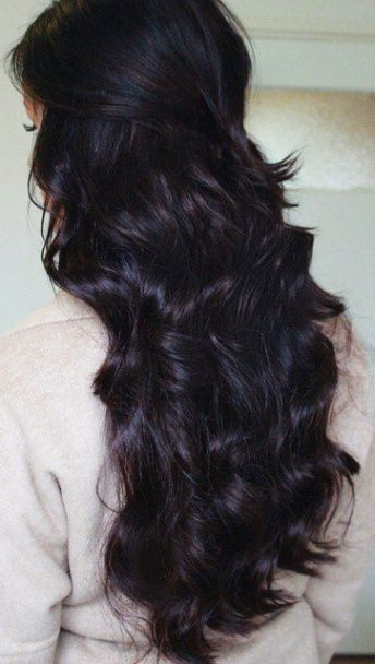 Dark plum brown hair