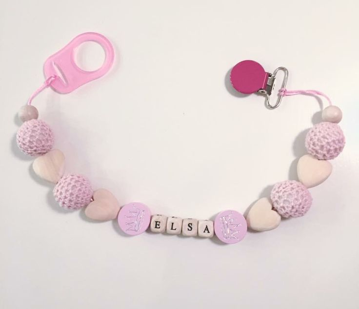 Personalised pacifier clip