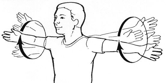 arm circles for baseball training