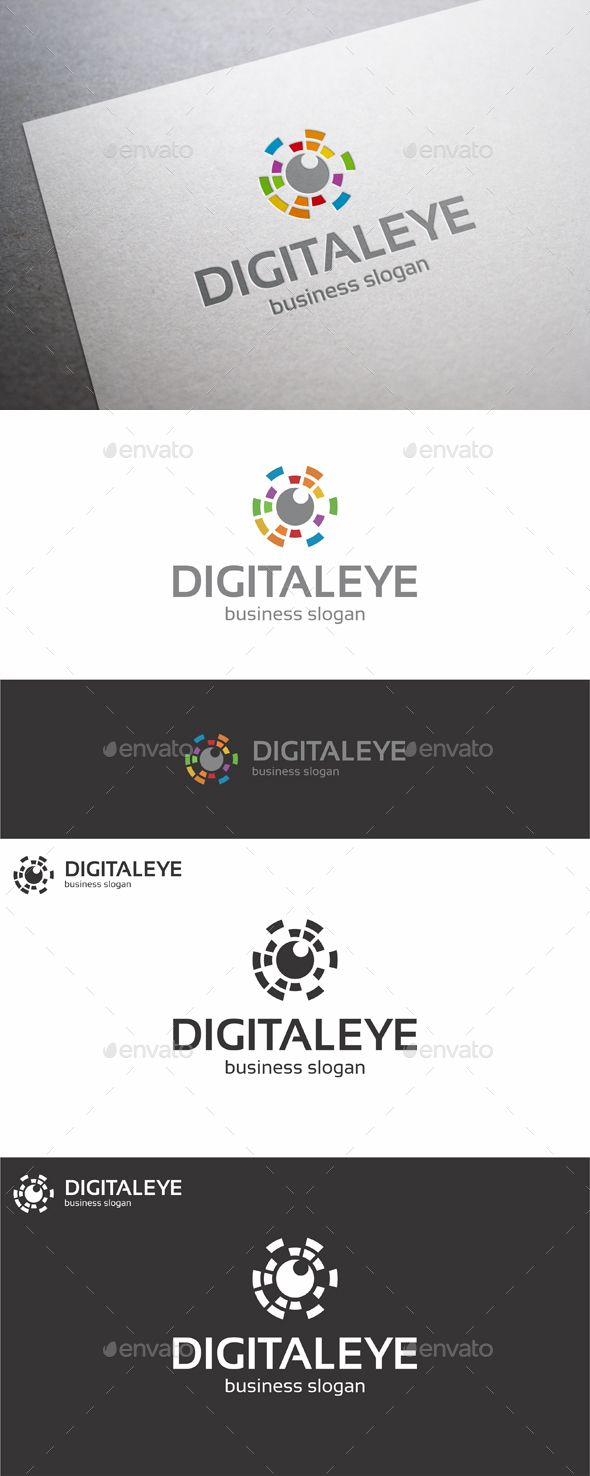 Digital Eye Logo ¨C Creative, Unique and Colorful Logo Design for your business. An excellent logo template suitable for media, pho