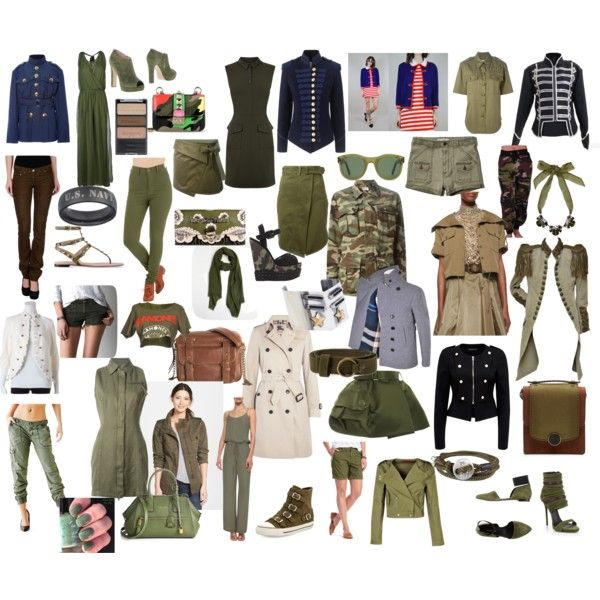 military style by elenilor on Polyvore featuring Alice + Olivia, Diesel, Warehouse, Marc Jacobs, Balmain, Burberry, Ralph Lauren Collection, Yves Saint Laurent, Pinky Laing and Forever New