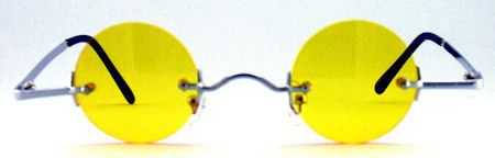 Ozzy Small Round Color Tinted Sunglasses - 595 Yellow