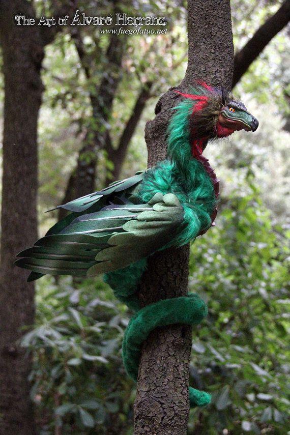 Male quetzalcoatl coatl amphitere feather serpent by ...