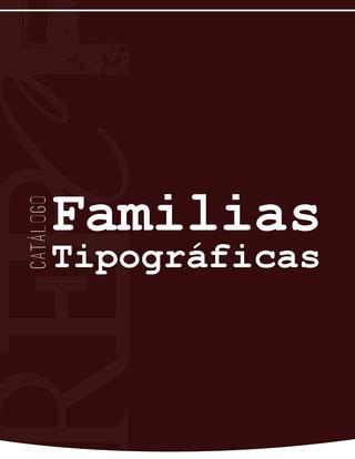 Catálogo Familias Tipográficas