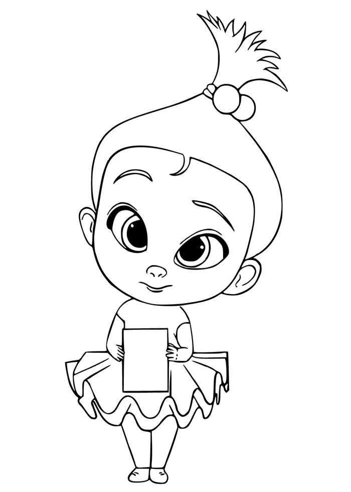 Staci The Boss Baby Coloring Page Baby Coloring Pages Family Coloring Pages Coloring Books