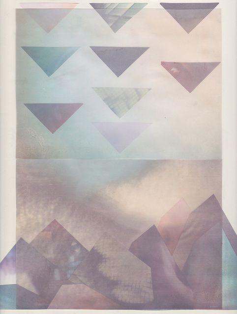 Triangle print.
