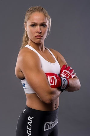 Rhonda Rousey - one bad a** B**ch in the ring. If you dont know her, look up some fights on you-tube