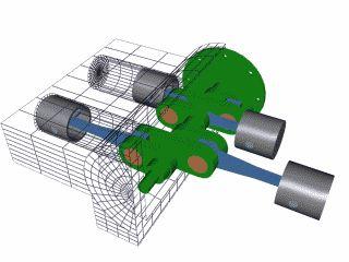 Animaciones simples que explican como funcionan algunos artilugios mecánicos:   Motor radial (cilindros en circulo) de avion de helices.    ...