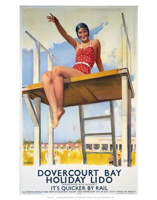 Dovercourt bay holiday lido Red swimsuit AUG16