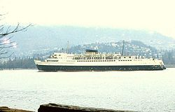 CPR Princess of Vancouver. Operated between downtown Vancouver and downtown Nanaimo from 1955 to 1981.