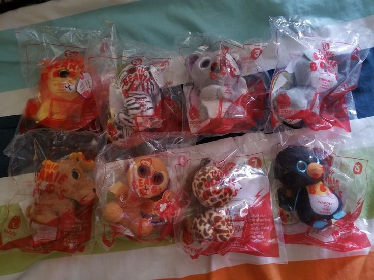 If ur still missing some beanie boos, check here! beanie boo mcdonalds happy meal toys 2017 #TY