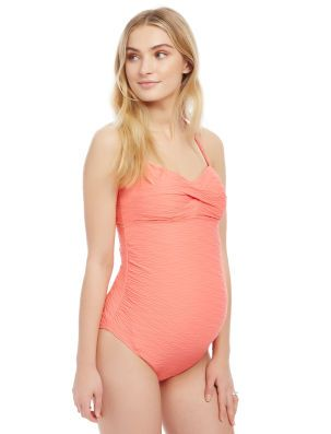 Sweetheart Detail Maternity One Piece Swimsuit