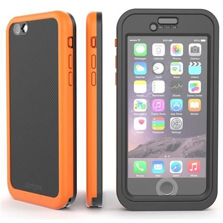 Image of Wetsuit Impact Waterproof Rugged Case for iPhone 6S Plus/6 Plus, Electric Orange