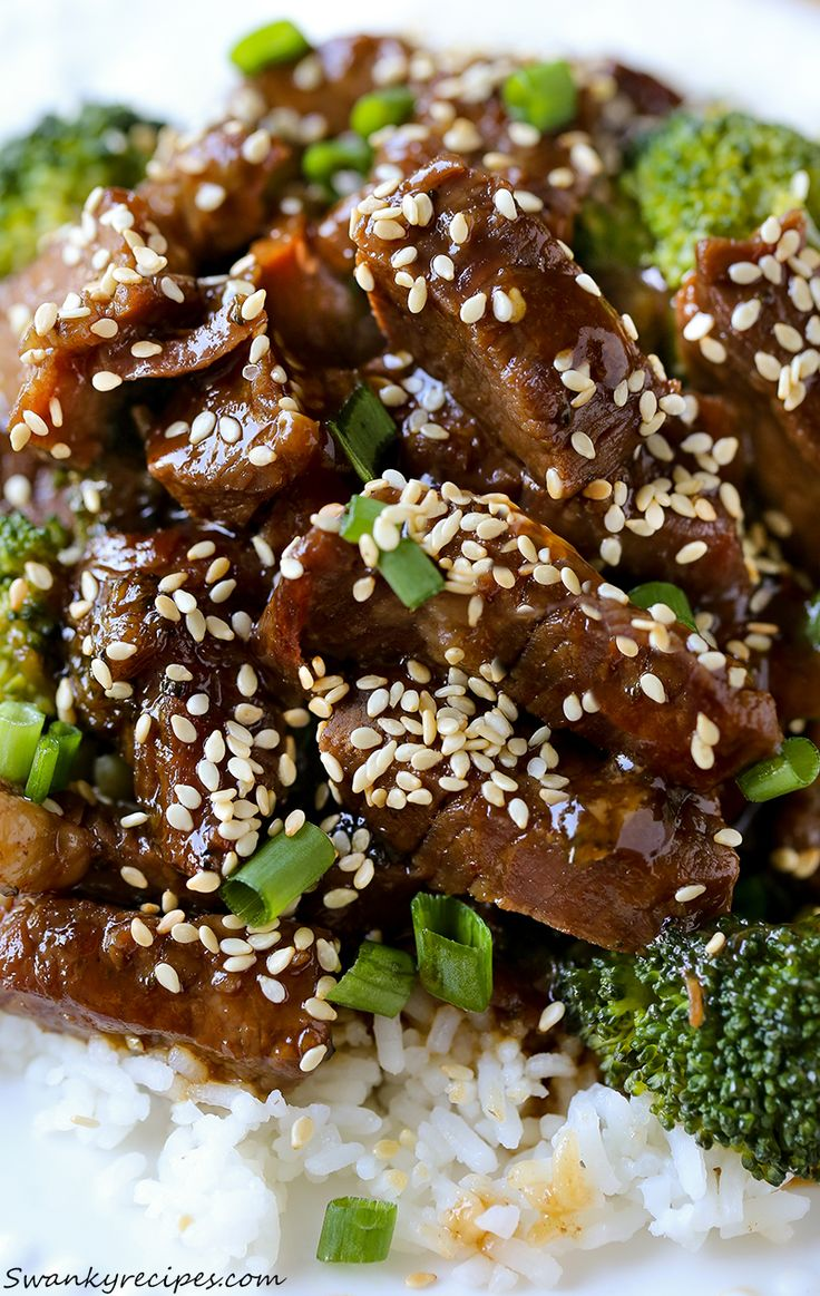 Classic Beef and Broccoli made with flank steak, broccoli and a savory, sweet sauce. This homemade version is much better than takeout.