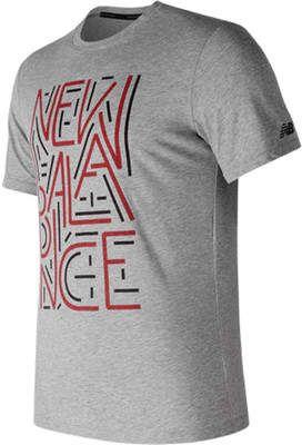 3c0a5a904 New Balance MT73082 Heather Tech Short Sleeve Graphic Tee (Men's ...