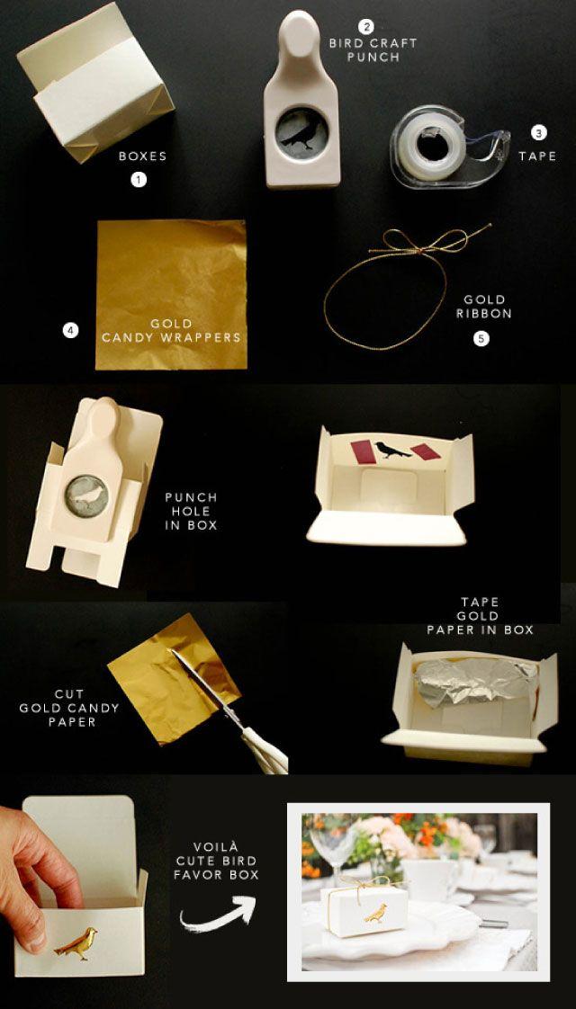Zró to sam - materiały do samodzielnego wykonania pudełeczek na prezenty