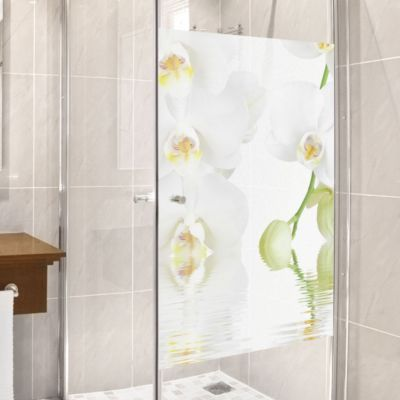Luxury Orchideen Fensterfolie Sichtschutz Fenster Wellness Orchidee Blumen Fensterbilder Jetzt bestellen unter
