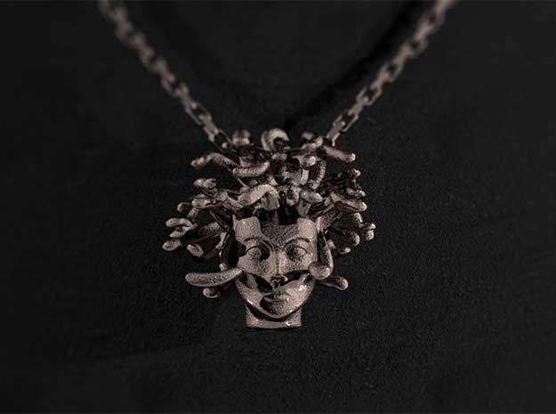 Medusa Stainless Steel Pendant #shapeways by Mythos Jewelry