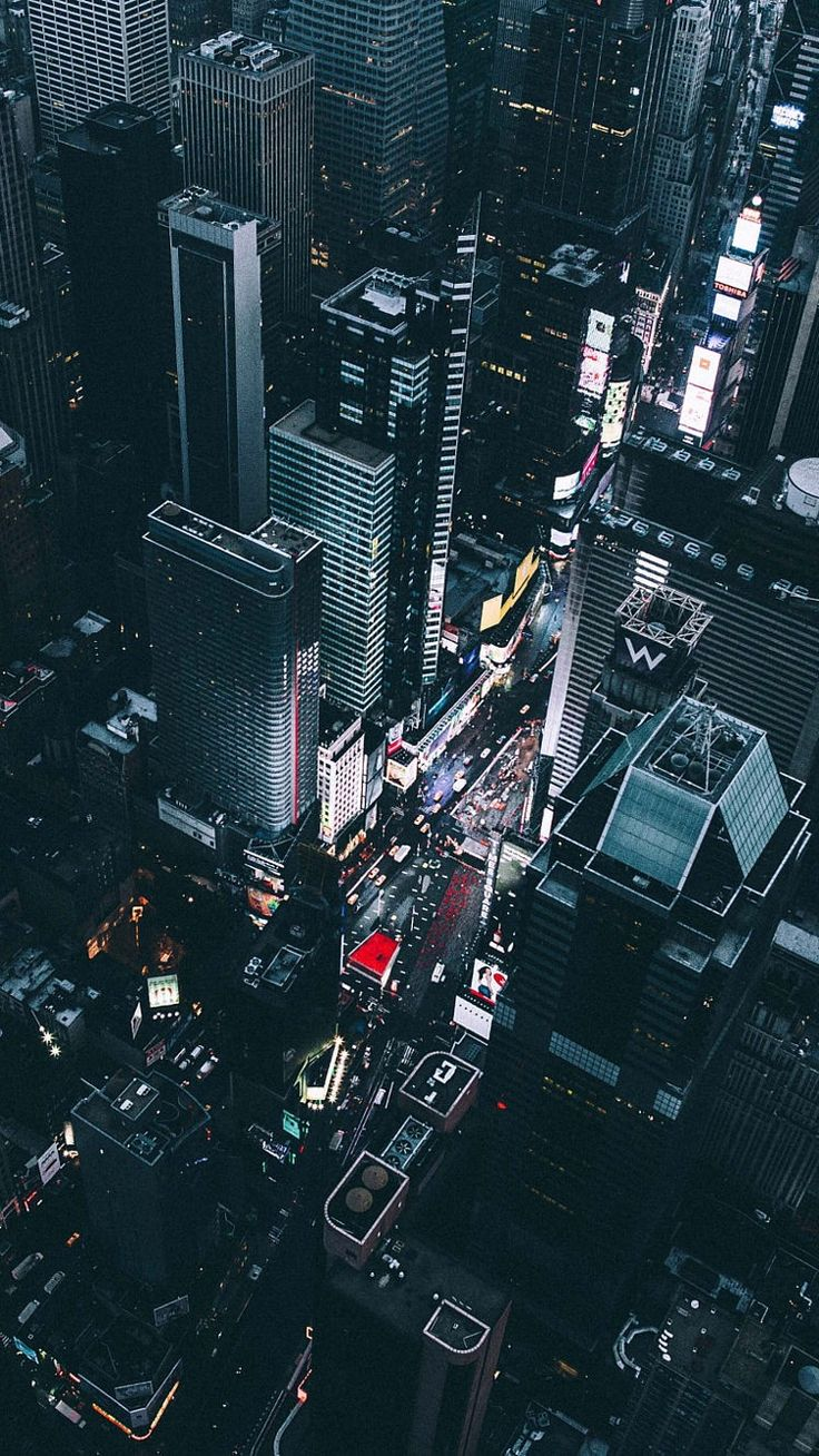 Time Square New York View From Chopper IPhone Wallpaper