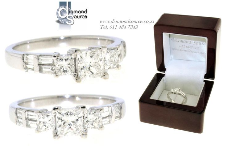 ELIZABETH DESIGN -  This is another one of our most recent commissions featuring an Elizabeth diamond engagement ring design. This ring we crafted from 18ct. White Gold. It is set with a 0.50ct. Princess-cut diamond in the centre and small Princess-cut diamonds & Baguette-cut diamonds on the sides. Please email or call us with any queries. FREE QUOTATIONS on any jewellery design you require. E: info@diamondsource.co.za W: www.diamondsource.co.za T: 011 484 7349