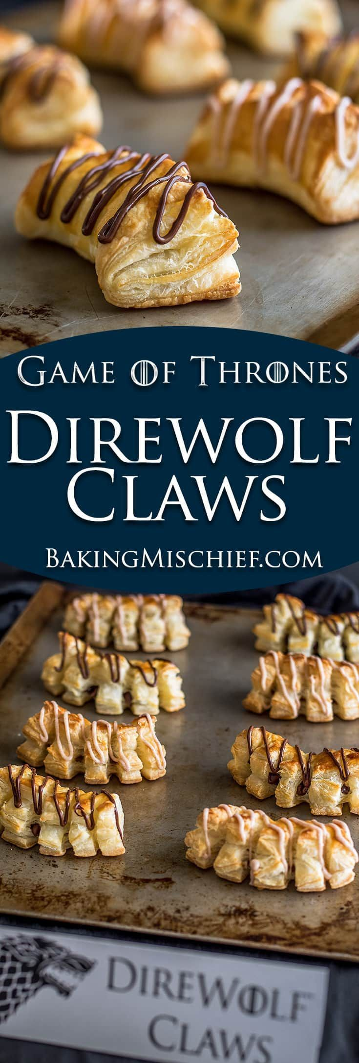 These Direwolf Claws are the perfect fun and easy dessert for Game of Thrones watch parties! | Nerdy Recipes | Nerdy Desserts |